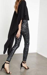 NWT BCBGMAXAZRIA Sequin High-Low Jumpsuit  Black